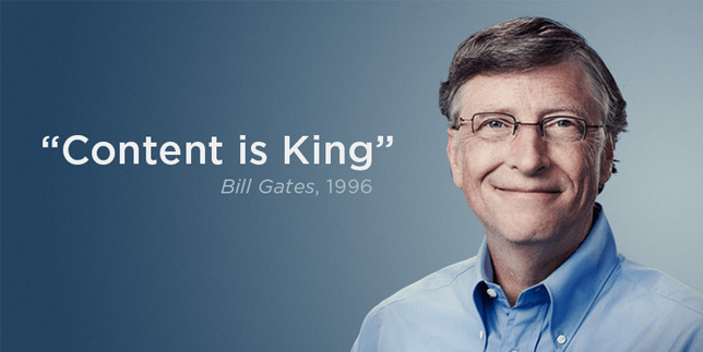 SEO gestita content is king bill gates 1